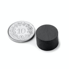 FE-S-15-10 Disc magnet Ø 15 mm, height 10 mm, ferrite, Y35, no coating