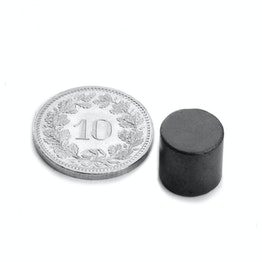 FE-S-10-10 Disco magnético Ø 10 mm, alto 10 mm, ferrita, Y35, sin revestimiento