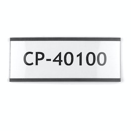 Magnetic labels 100 x 40 mm magnetic C-profiles, printable on inkjet and laser printers, for labelling metal shelves