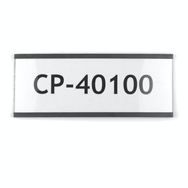 Etichette magnetiche 100 x 40 mm profili magnetici a C, stampabile con una stampante laser o a getto d'inchiostro, per etichettare scaffali metallici