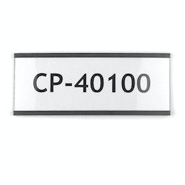 Etiquetas magnéticas 100 x 40 mm perfiles C magnéticos, aptas para impresoras de inyección de tinta o láser, para etiquetar estanterías metálicas