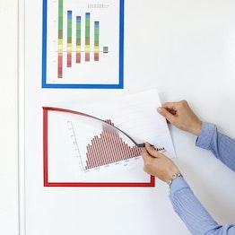 Magnet-Rahmen A4 magnetische Infotaschen zum Aufhängen von Hinweisen, für Whiteboards, Schränke etc.