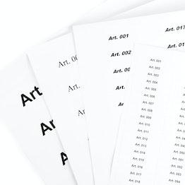 Carta di riserva per etichette etichette vergini per etichette magnetiche, 10 fogli per confezione