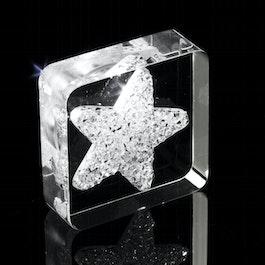 Diamond Star Kühlschrankmagnet Stern, mit Swarovski-Kristallen