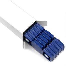 magneti da ufficio 'Boston Xtra' quadrati 25 pezzi puntine magnetiche al neodimio, set da 25, in diversi colori