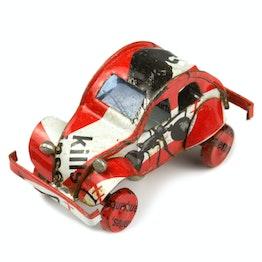 Calamite da frigo 'MadagasCAR' mini-veicoli magnetici da vecchi barattoli di latta, auto