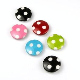 Toadstools deco magnets with felt protectors, set of 3