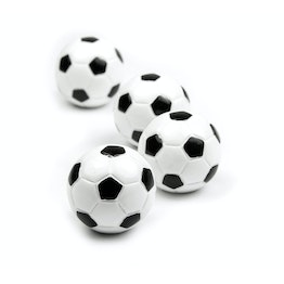 Kicker deco magnets in the shape of a football, set of 4