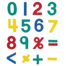 Magneetcijfers ca. 100 cijfers & rekentekens, van EVA-schuim, 4 kleuren gemengd