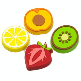 Aimants pour frigo 'Fruity' en forme de fruits, lot de 4