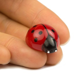 Ladybird deco magnets shaped as ladybirds, set of 6