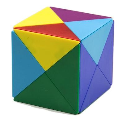 tangram w rfel aus 24 magnetischen tetraedern m 41. Black Bedroom Furniture Sets. Home Design Ideas