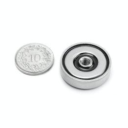 ITN-25 Magnete con base in acciaio con filettatura Ø 25 mm, filettatura M5