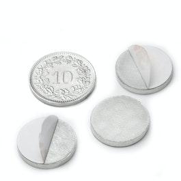 PAS-16 Disco metálico autoadhesivo Ø 16 mm, como contrapieza para imanes, ¡no es un imán!