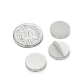 PAS-13 Disque métallique autocollant Ø 13 mm, contre-pièce pour aimants, non magnétique !