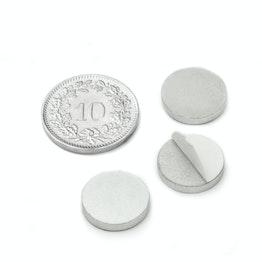 PAS-13 Metalen schijfje zelfklevend Ø 13 mm, als tegenstuk voor magneten, geen magneet!