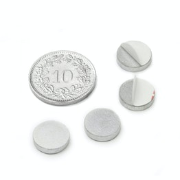 PAS-10 Metal disc self-adhesive Ø 10 mm, as a counterpart to magnets, not a magnet!