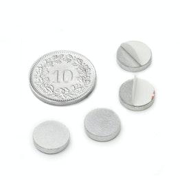PAS-10 Disco metálico autoadhesivo Ø 10 mm, como contrapieza para imanes, ¡no es un imán!