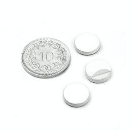 PAS-10-W Disco metallico autoadesivo bianco Ø 10 mm, come controparte per i magneti, non è un magnete!