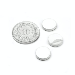 PAS-10-W Metal disc self-adhesive white Ø 10 mm, as a counterpart to magnets, not a magnet!