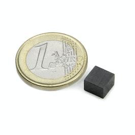 FE-Q-07-07-05 Blokmagneet 7 x 7 x 5 mm, ferriet, Y35, zonder coating