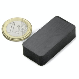 FE-Q-40-20-10 Blokmagneet 40 x 20 x 10 mm, ferriet, Y35, zonder coating