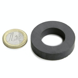 FE-R-40-22-09 Ringmagneet Ø 40/22 mm, hoogte 9 mm, ferriet, Y35, zonder coating