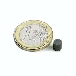 FE-S-05-05 Disco magnetico Ø 5 mm, altezza 5 mm, ferrite, Y35, senza rivestimento