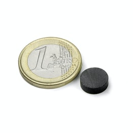 FE-S-10-03 Disc magnet Ø 10 mm, height 3 mm, ferrite, Y35, no coating