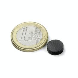 FE-S-10-03 Disco magnetico Ø 10 mm, altezza 3 mm, tiene ca. 200 g, ferrite, Y35, senza rivestimento