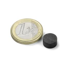 FE-S-10-05 Disque magnétique Ø 10 mm, hauteur 5 mm, tient env. 300 g, ferrite, Y35, sans placage