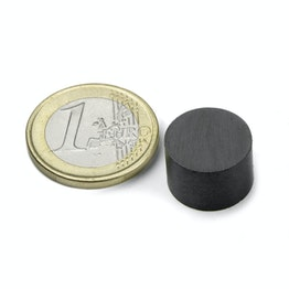FE-S-15-10 Disc magnet Ø 15 mm, height 10 mm, ferrite, Y35, no coating