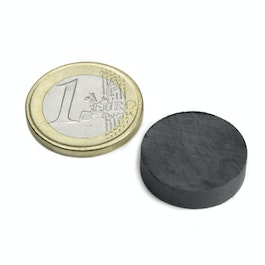 FE-S-20-05 Disc magnet Ø 20 mm, height 5 mm, ferrite, Y35, no coating