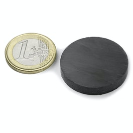 FE-S-30-05 Disc magnet Ø 30 mm, height 5 mm, ferrite, Y35, no coating