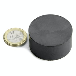 FE-S-40-20 Disc magnet Ø 40 mm, height 20 mm, ferrite, Y35, no coating