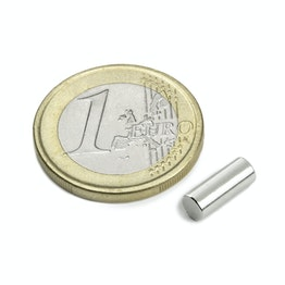 S-04-10-AN Rod magnet Ø 4 mm, height 10 mm, neodymium, N45, nickel-plated