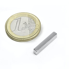 Q-20-04-03-N Parallelepipedo magnetico 20 x 4 x 3 mm, neodimio, N48, nichelato