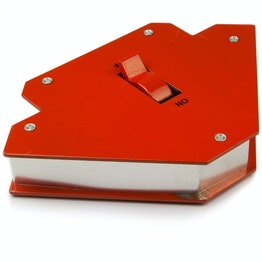 Welding magnet large magnetic welding angle, with on/off switch, side length approx. 12 cm