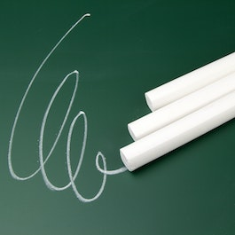 Chalk white for writing on wall boards, set of 12