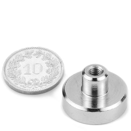 TCN-20 Pot magnet with screw socket Ø 20 mm, thread M4