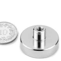 TCN-25 imán en recipiente con inserto roscado Ø 25 mm, rosca M4