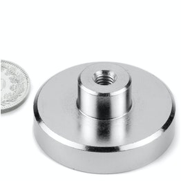 TCN-40 Pot magnet with screw socket Ø 40 mm, thread M6