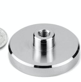 TCN-50 Aimant en pot avec manchon taraudé Ø 50 mm, tient env. 75 kg, pas de vis M8