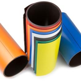 Gekleurd magneetband 150 mm om zelf te beschrijven en op maat te knippen, rollen à 1 m