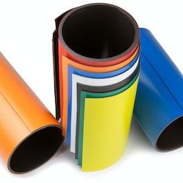 Cinta magnética de colores 150 mm para rotular y cortar, rollos de 1 m