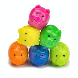 Piggies deco magnets in the shape of piggies, set of 6