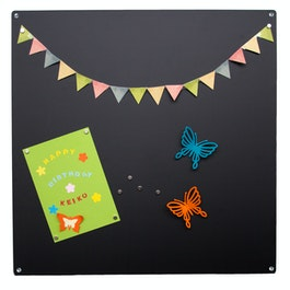 Magnetic board square made from 0,8 mm thick steel sheet, 40 x 40 cm, in different colours