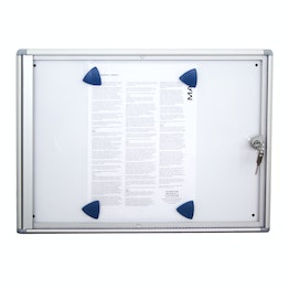 Display case 2 x A4 for 2 A4 sheets, extra-flat design, with lock