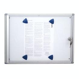 Vitrine d'affichage 2 x A4 pour 2 feuilles A4, forme extra plate, avec serrure
