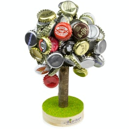 Beer tree large magnetic beer cap collector, ideal party gift, holds up to 120 bottle caps